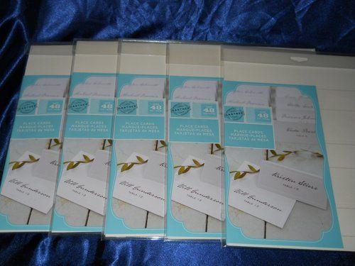 Never opened - 240 Gartner Studios Ivory Pearl Place Cards (5 pks/48 ...