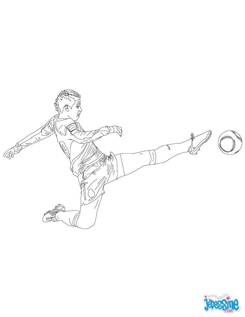 Coloriage du joueur de foot James Rodrigez € imprimer gratuitement ou colorier en ligne sur
