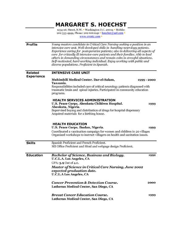 Free Printable Resume Template - Free Printable Resume Template we