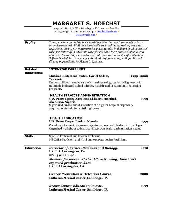 Free Printable Resume Template Free Resume Templates Resume Template Examples Free Printable Resume Free Printable Resume Templates