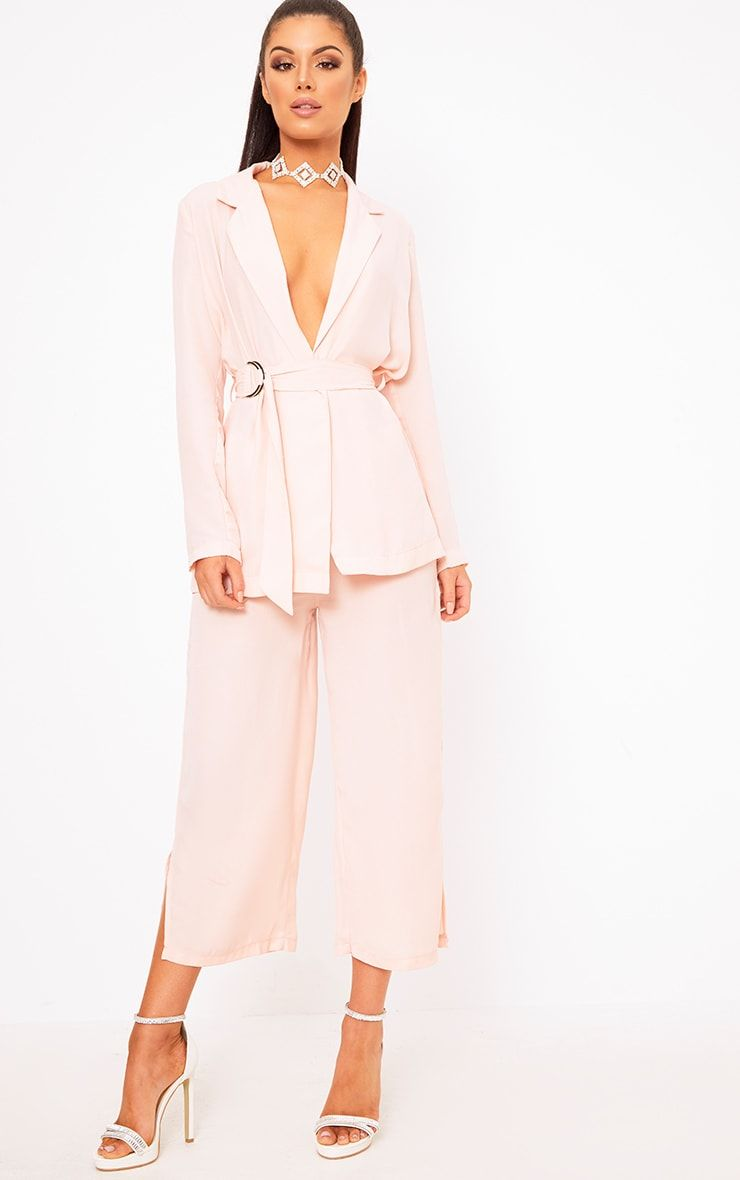 4a31e9ffe16d Romily Nude Suit Culottes Uk Bride, What To Wear To A Wedding, Pantsuits For