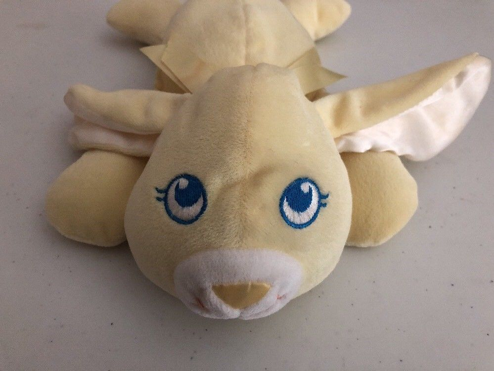Playskool My Very Soft Pet Plush Yellow Bunny Rabbit Lovey Baby Toy Squeeks Vtg Rabbit Plush Bunny Rabbit Playskool