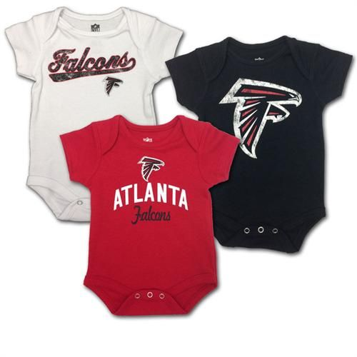 53062412 Baby Falcons Body Suits 3-Pack #Atlanta #Falcons #Baby #Infant ...