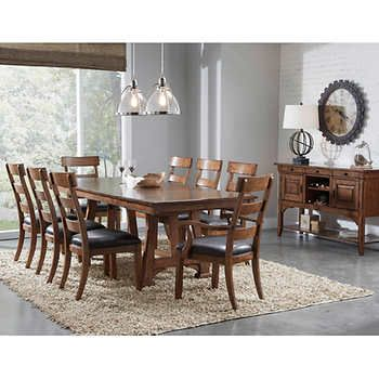 Appalachian 10 Piece Dining Set Dining Room Sets Wood Dining Room Counter Height Dining Sets