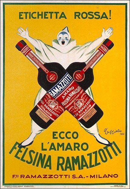 Amaro Felsina Ramazzotti Milano Galleria L Image Poster Pubblicita Retro Vecchie Pubblicita