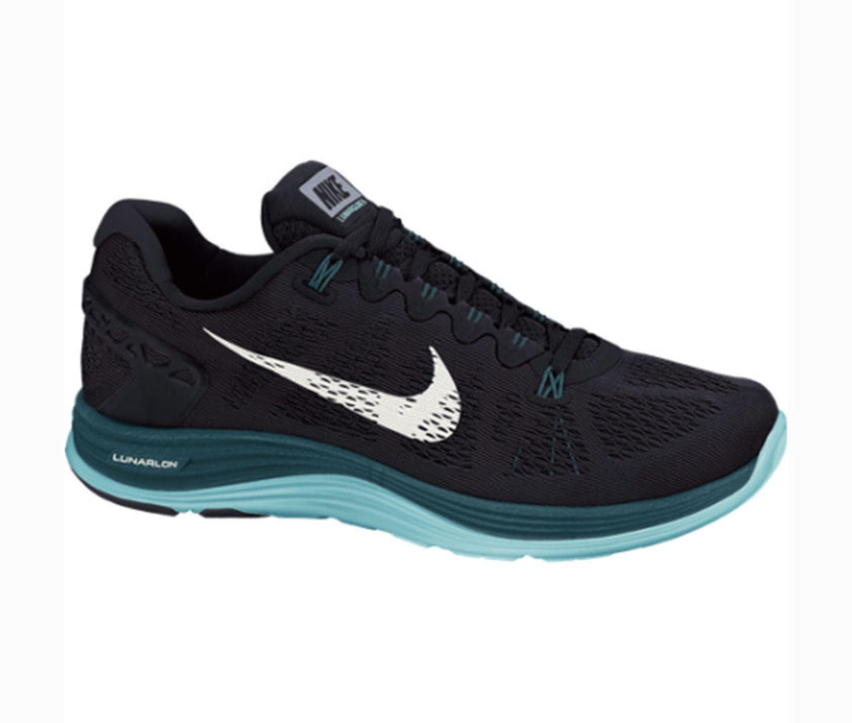 9716d360 NIKE LUNARGLIDE+ 5 NEGRO/TURQUESA MUJER | sneakers nike | Zapatos ...