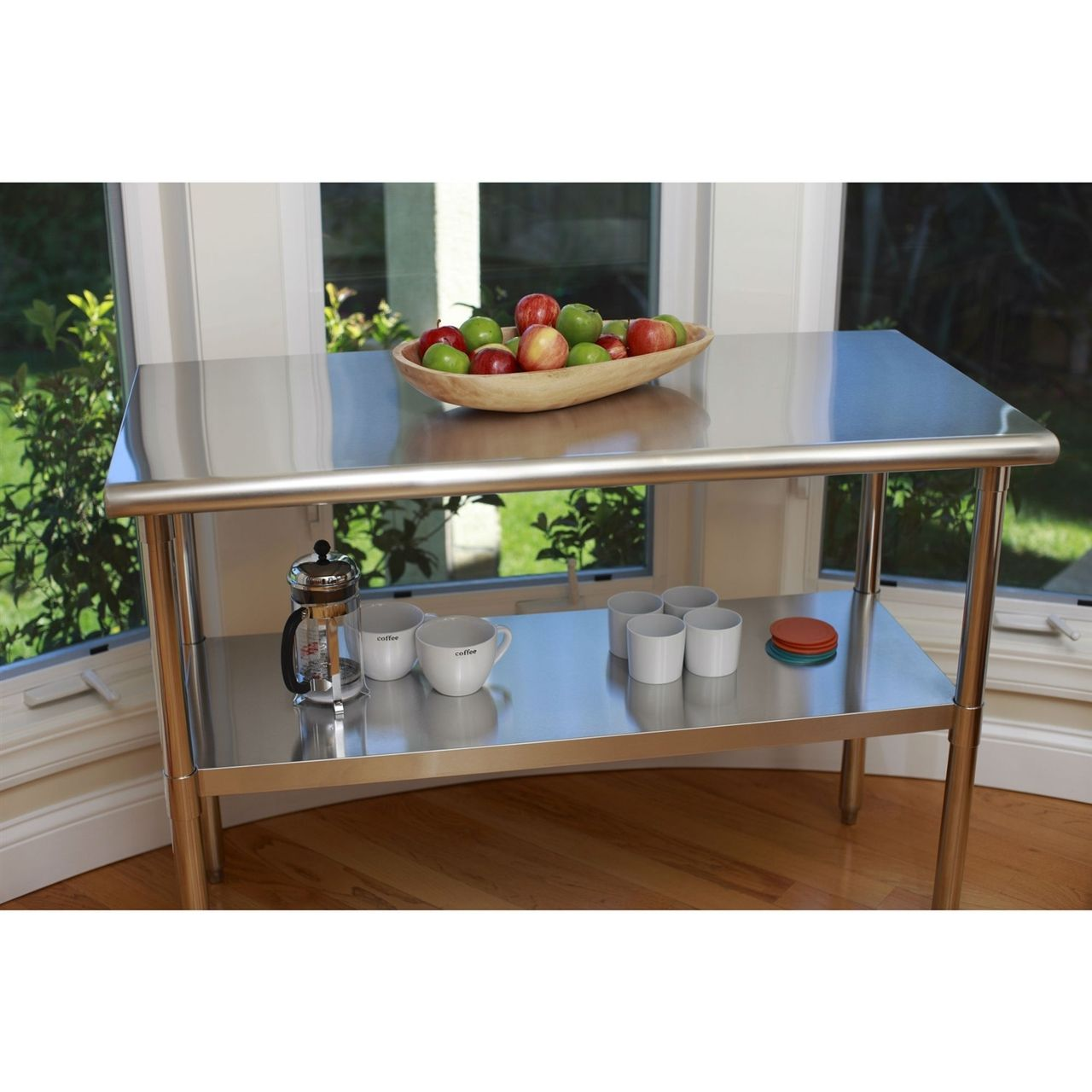 stainless steel top food prep table utility work bench