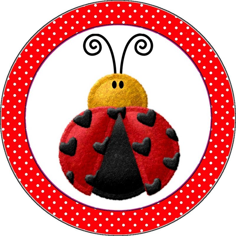 Lovely Ladybugs Free Printable Toppers, Papers and Images.