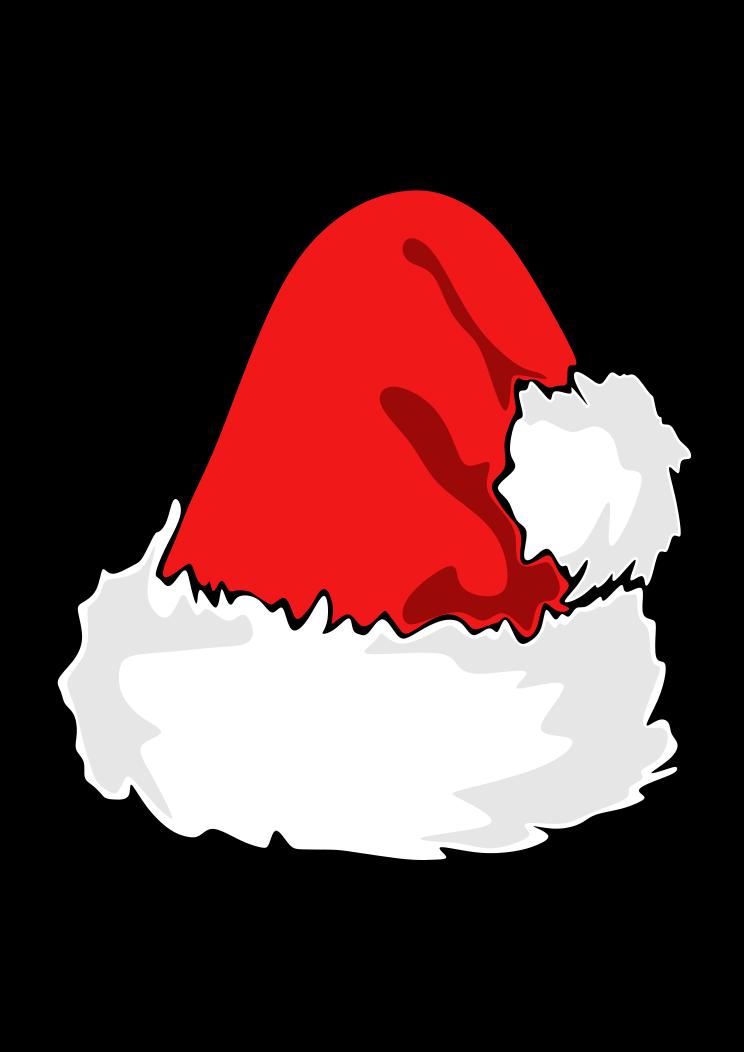 Christmas Santa Hat Free Svg File In 2020 Svg Free Files Free Svg Santa Hat Vector
