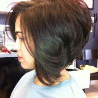 A Line Sexy stacked bob by Strandz Salon Boutique Flower Mound Tx.