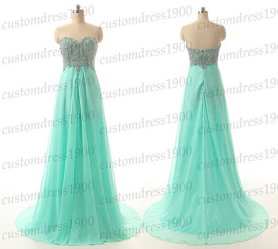 Hey, I found this really awesome Etsy listing at https://www.etsy.com/listing/217802536/long-mint-bridesmaid-dresshandmade