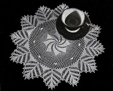 Doily crochet pattern from Old and New Favorites Doilies, originally published by Clark's ONT J Coats, Book 217, in 1944.