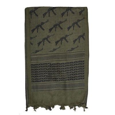 Tactical Shemagh - AK47 - Black & Olive Drab $7.82 http://www.armynavyshop.com/prods/fxo79-137.html #olivedrab #black #shemagh #AK47 #AK47scarves #tacticalgear #armynavy #army #military