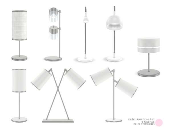 Desk Lamp 2000 Set by DOT at TSR • Sims 4 Updates