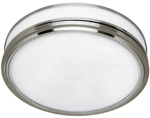 Hunter 83001 Ventilation Riazzi Bathroom Exhaust Fan With Light, Brushed  Nickel (Bathroom Vent Fan