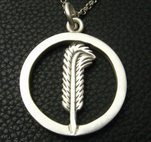 Mjg Silver Feather Pendantbert Plant Led Zeppelin Ebay Wish