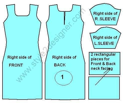 1. Take 2 Pieces of Kameez (Front and Back) 2 Pieces of Sleeve ...