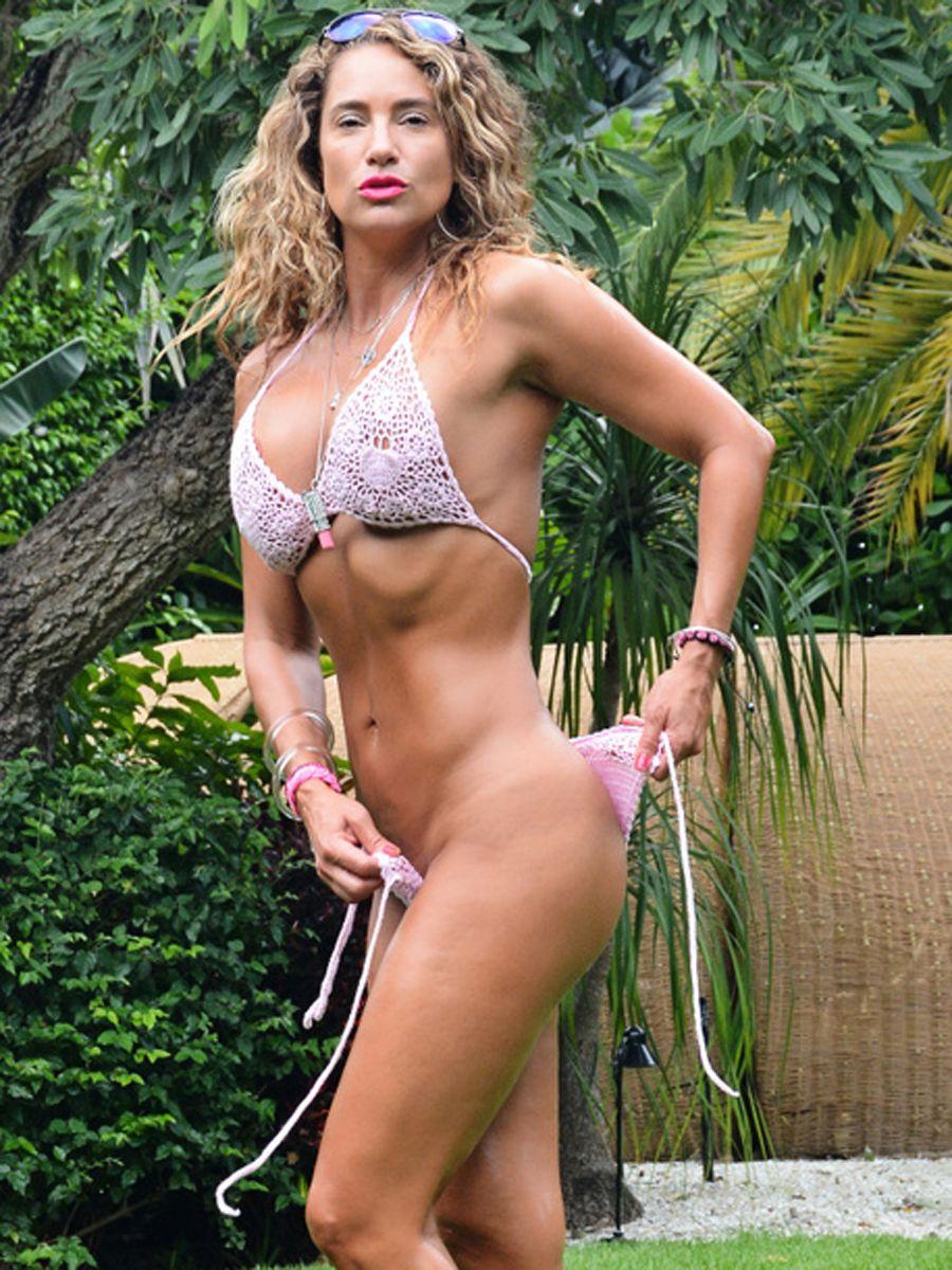 Her bikini bottoms alluring
