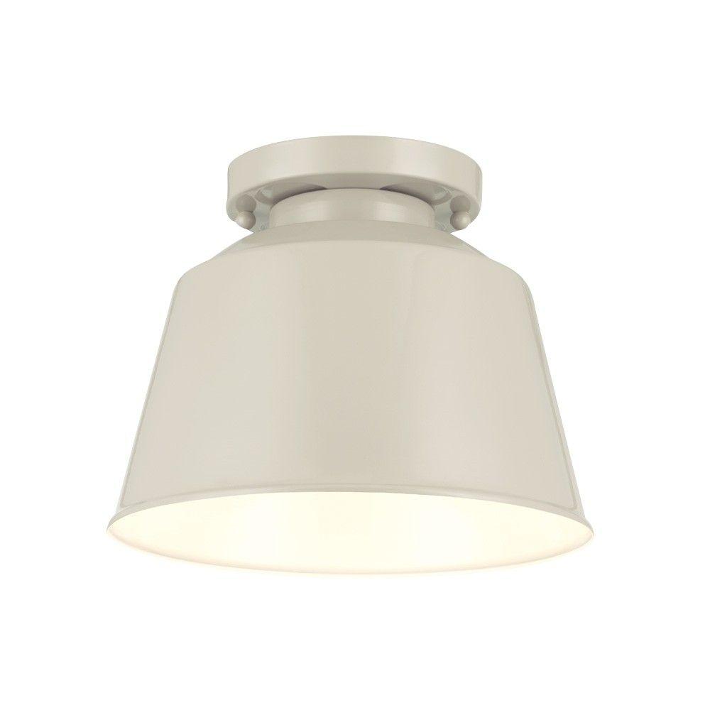 Hallway flush mount lighting  Restoration Warehouse Freemont FlushmountHi Gloss Grey  Lighting