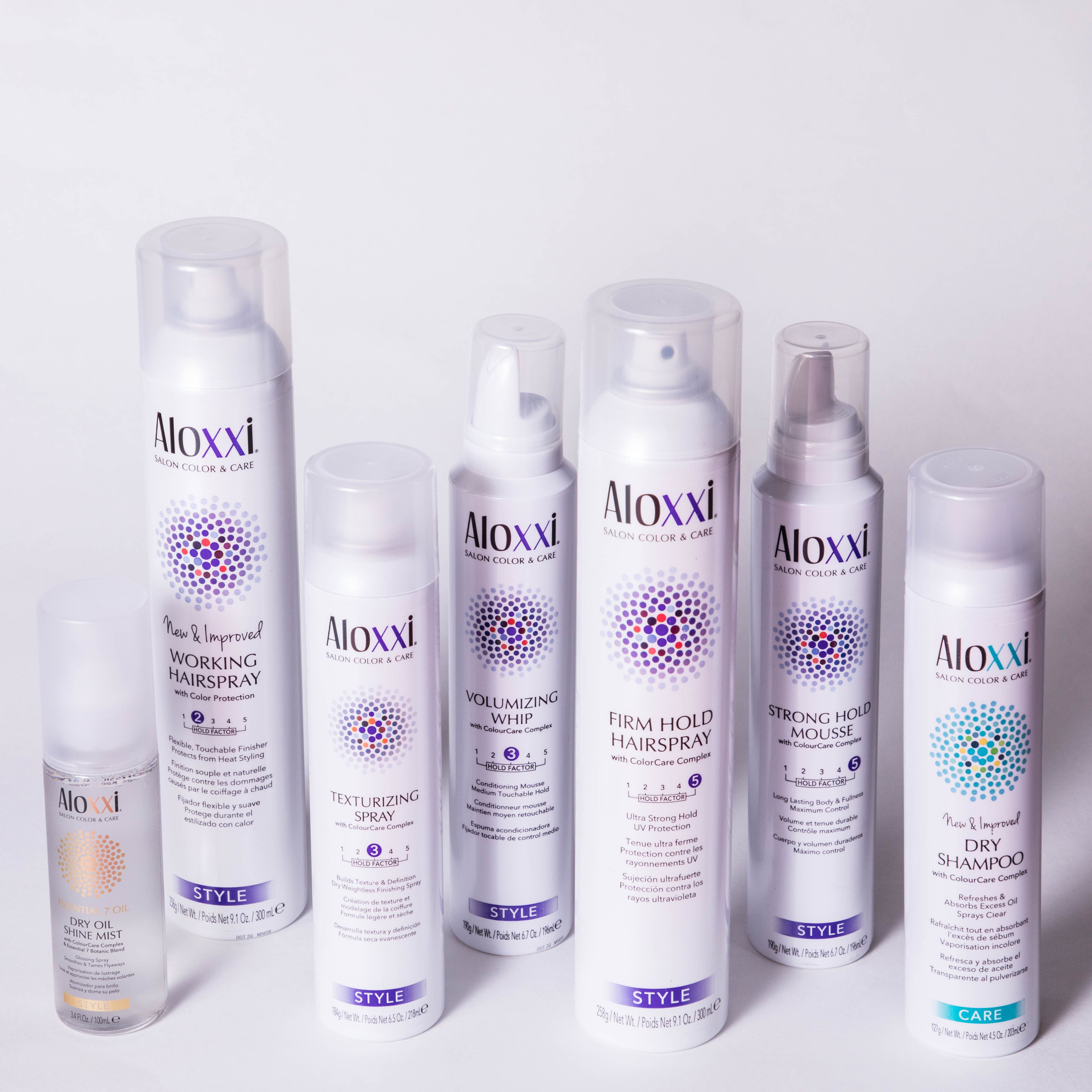 Aloxxi offers a wide range of Salon haircare and color