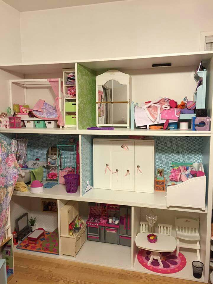 Perfect for American girl Dollhouse IKEA Stuva storage