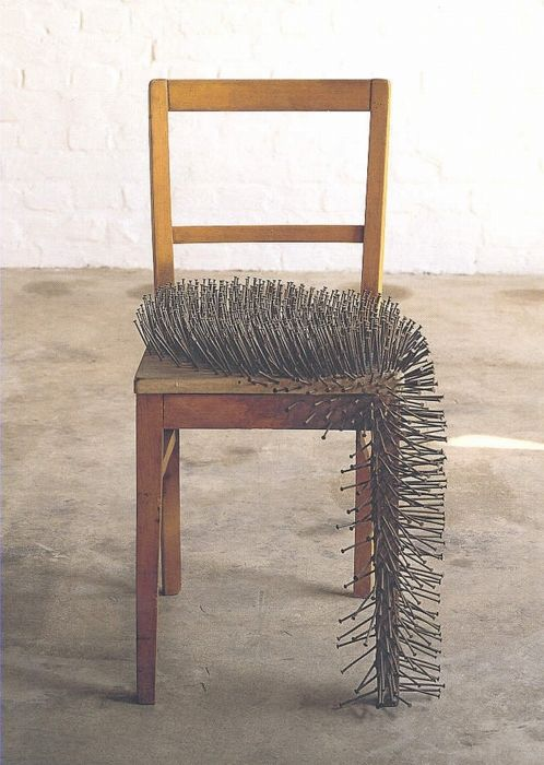 unsourced art or extremely uncomfortable chair (OK, @Andrea ...