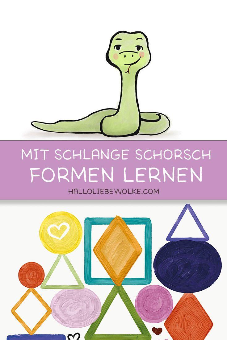 Formen lernen mit Schlange Schorsch (Lerngeschichte & Printable) • Hallo liebe Wolke