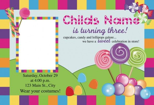 image relating to Candyland Letters Printable known as Free of charge Printable Sweet Invites - Letter.BestKitchenView.CO