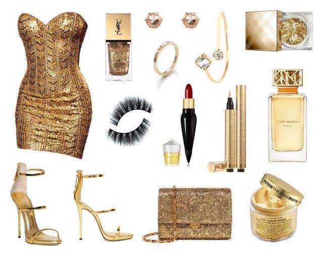 golden dress | Golden dress, Peter thomas roth and Giuseppe zanotti