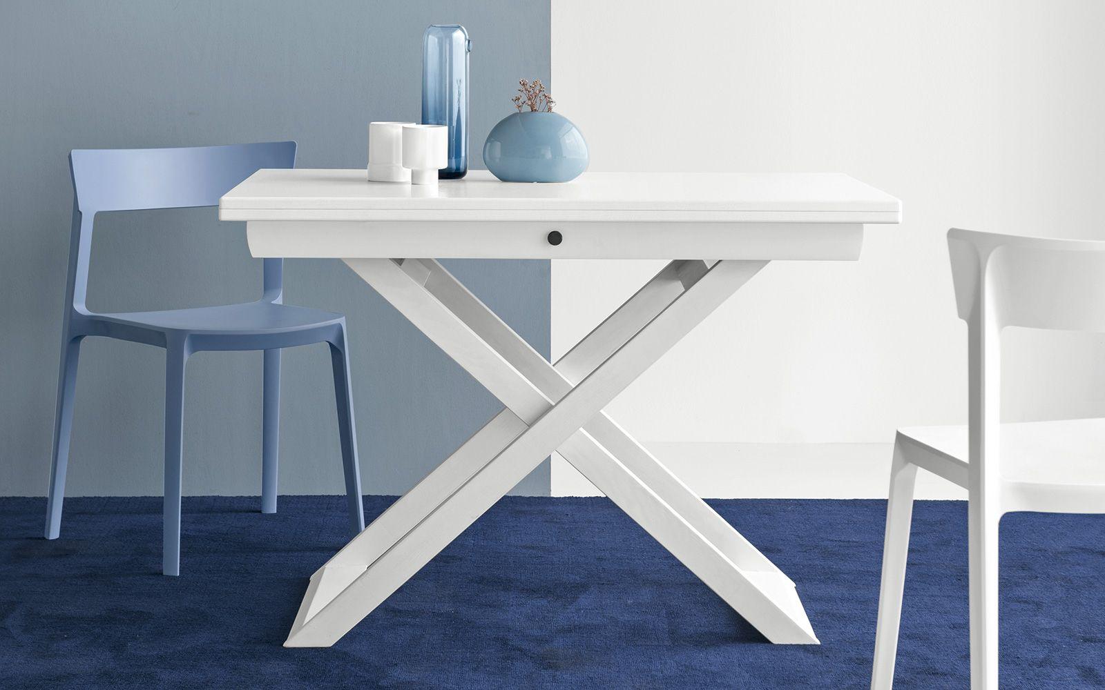 Tavolino calligaris sottosopra laccato bianco ottico tavolini
