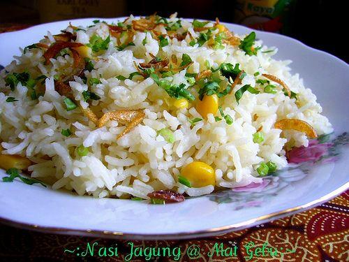 Dapur Tanpa Sempadan Nasi Jagung Makanan Resep Makanan Masakan