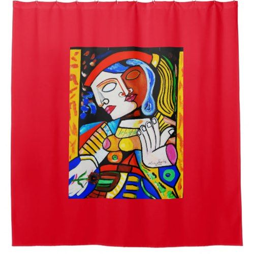 PICASSO TURKISH KING SHOWER CURTAIN