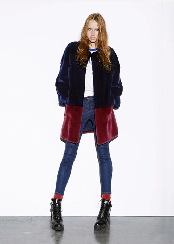 Byte by Giuliana Teso Sheared Mink Fur Coat
