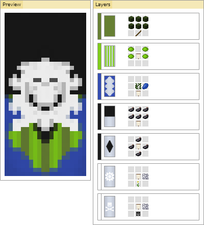 minecraft koala banner how to make