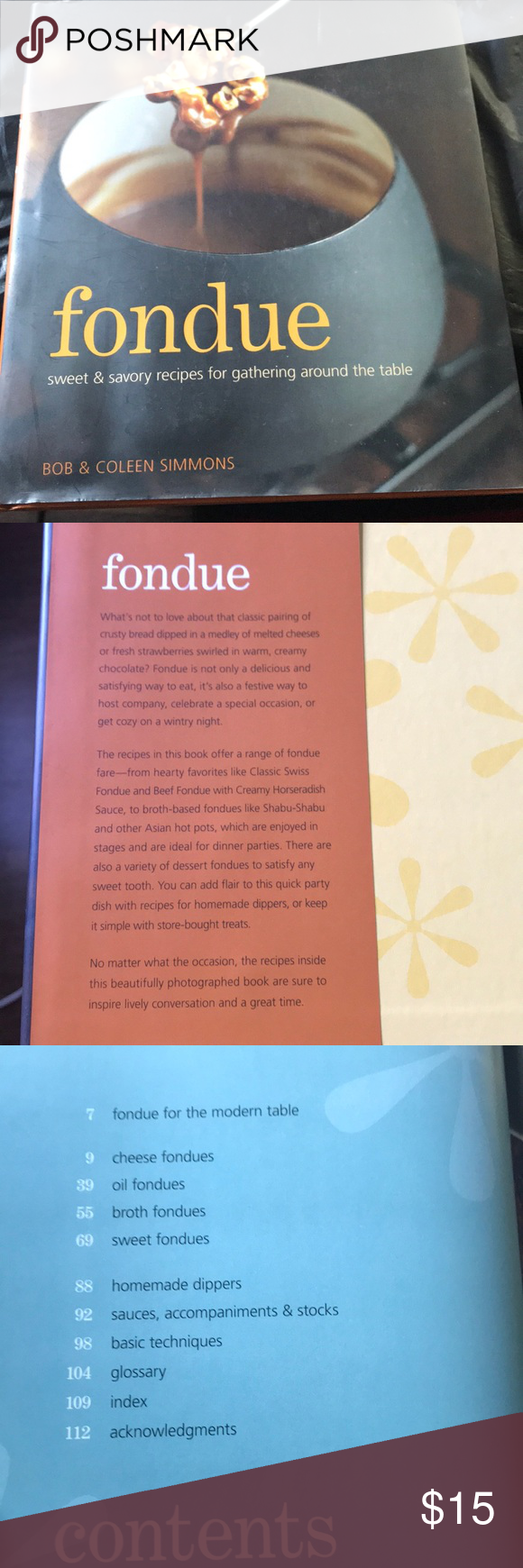 William Sonoma Fondue Recipe Book Very useful cook book  Outer paper wrap around shows flaws but book is in great condition  Lots of yummy recipes  Glossary of terms for beginners and helpful technique pages to learn more Williams Sonoma Kitchen Cookbooks #brothfonduerecipes