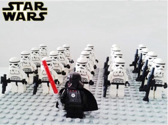 13pcs lot STAR WARS GEONOSIS CLONE TROOPER Custom PAD UV Printed lego minifigure