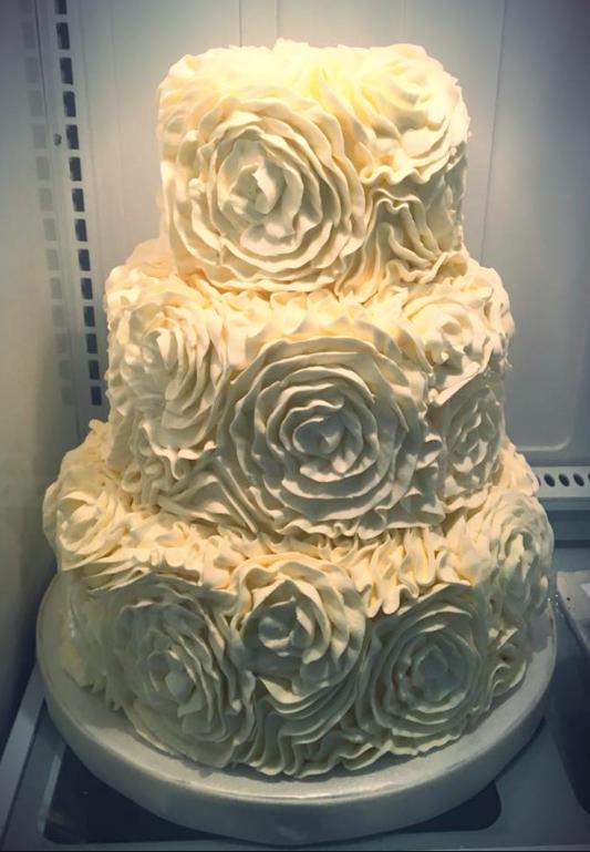 White Abstract Rosettes wedding cake | Wedding Cakes | Pinterest ...