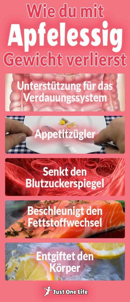 Wie du mit Apfelessig Gewicht verlierst