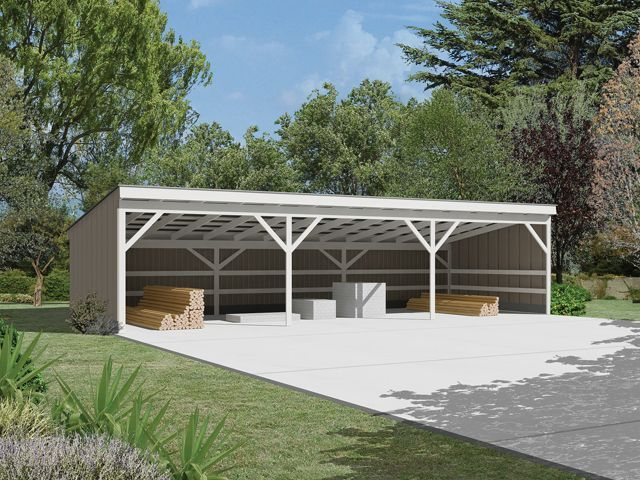 Pole Barn Carport Plans Google Search Open Shed Building A