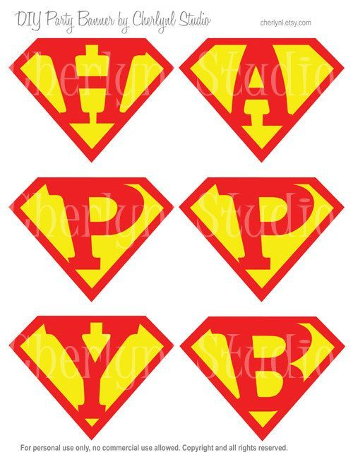 free printable happy birthday superman banner super sam birthday