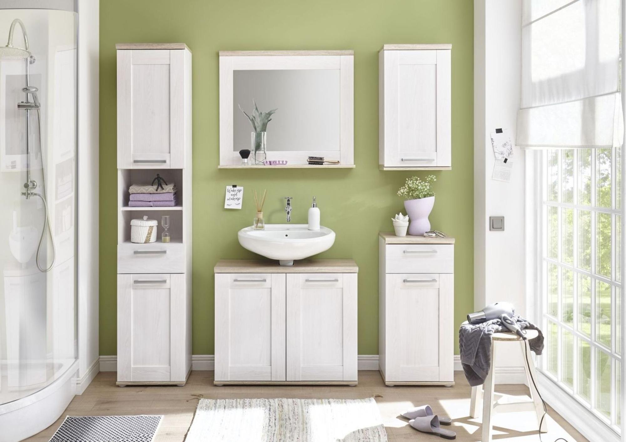 Waschbeckenunterschrank Romina Bei Opti Wohnwelt Entdecken In 2020 Waschbeckenunterschrank Badezimmer Badezimmer Mobel