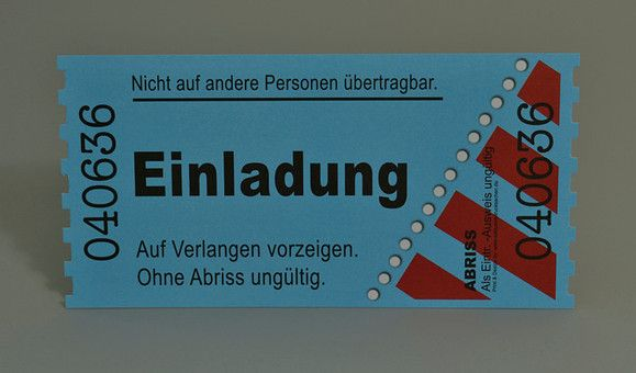 Einladungskarten Als Ticket Geburtstag Vintage