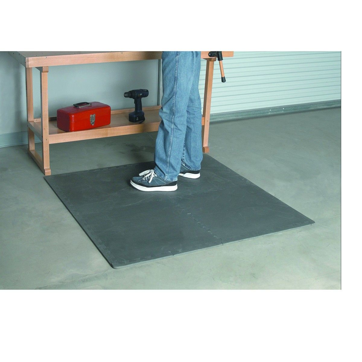 Rubber floor mats standing - Anti Fatigue Foam Mat Set 4 Pc