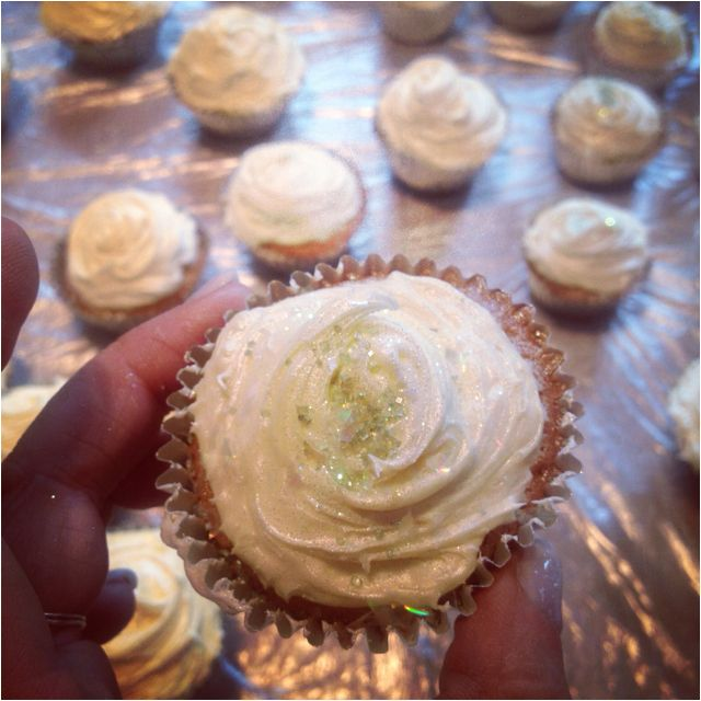 One of the smaller cupcakes