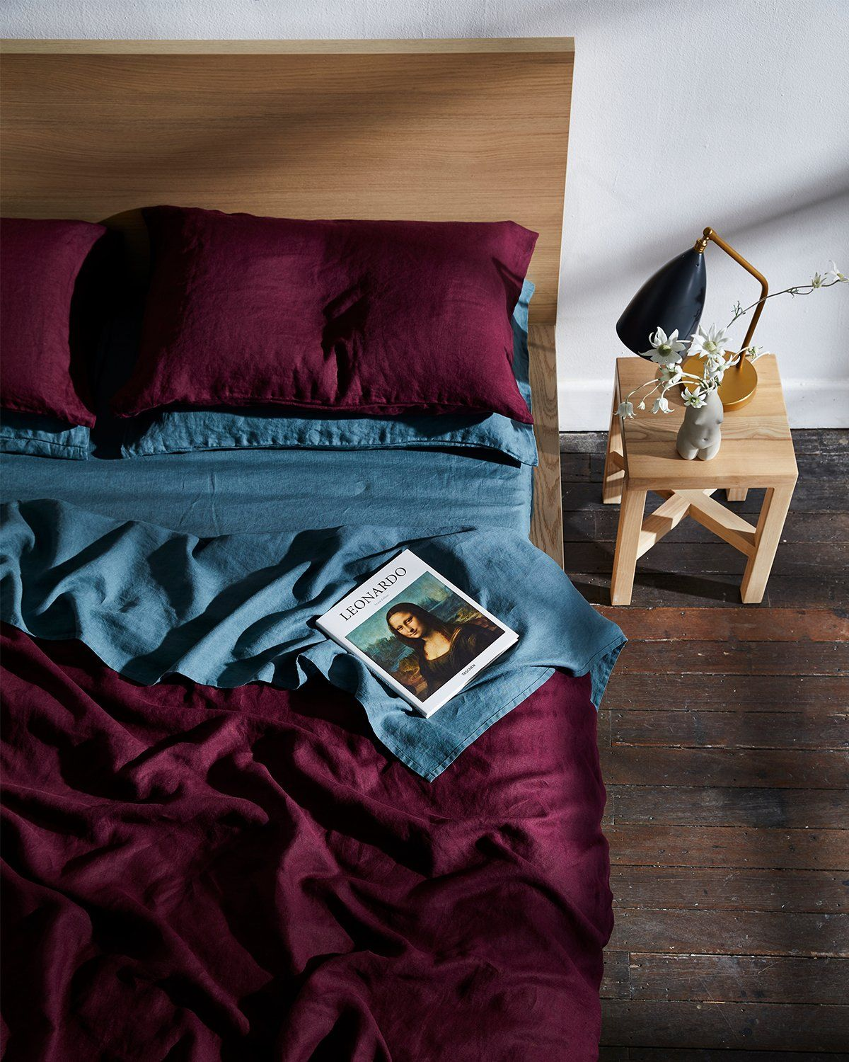 Photo of Ruby 100% Flax Linen Bedding Set – Bed Threads