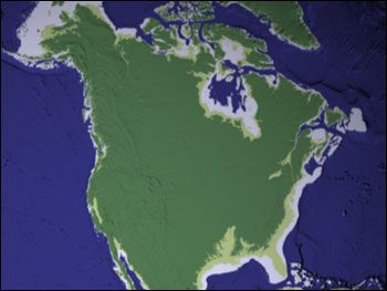Map Of Ancient And Modern Sea Level Ice Age Coastal Maps