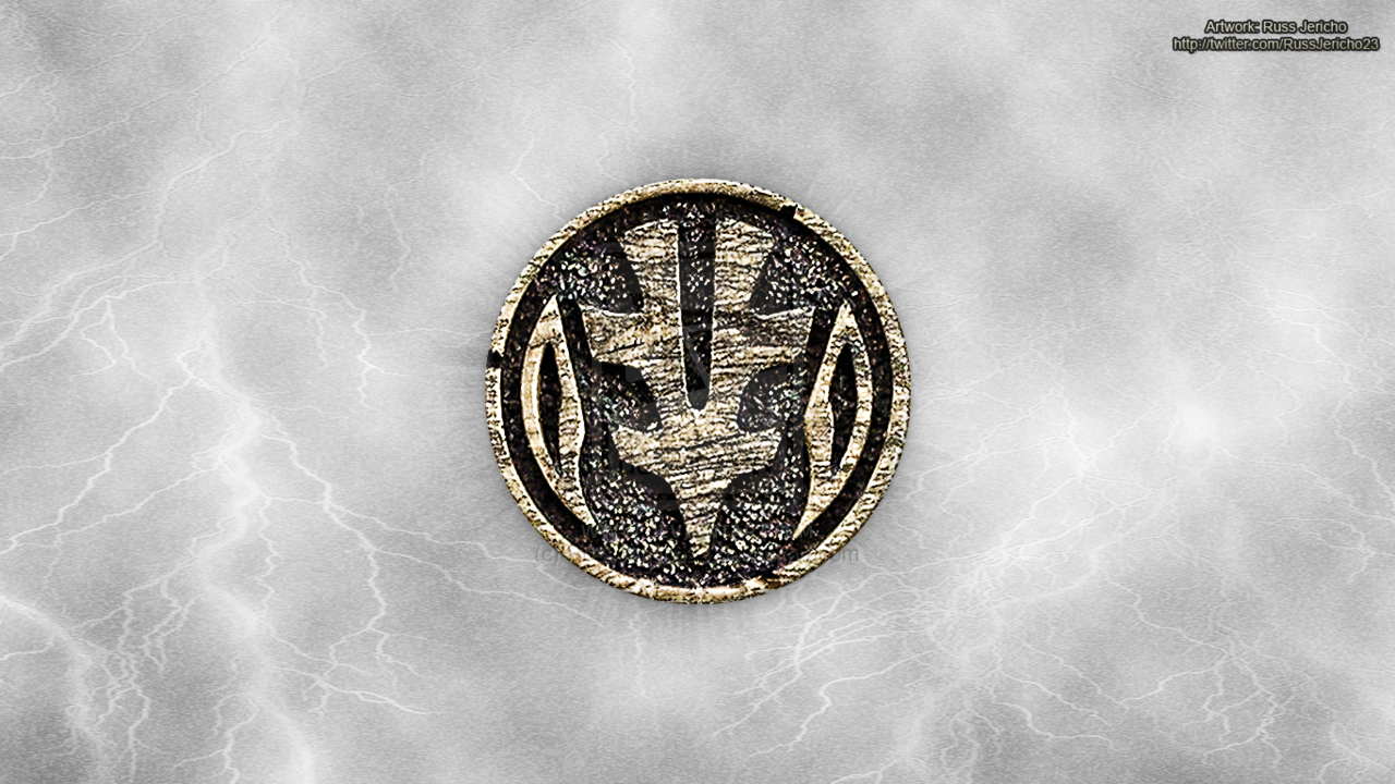MMPR White Ranger Tigerzord Coin Wallpaper by