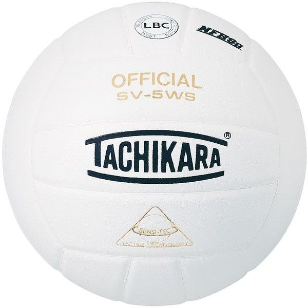Tachikara SV5WS Sensi-Tec Composite Volleyball, White ($40) ❤ liked on Polyvore featuring white