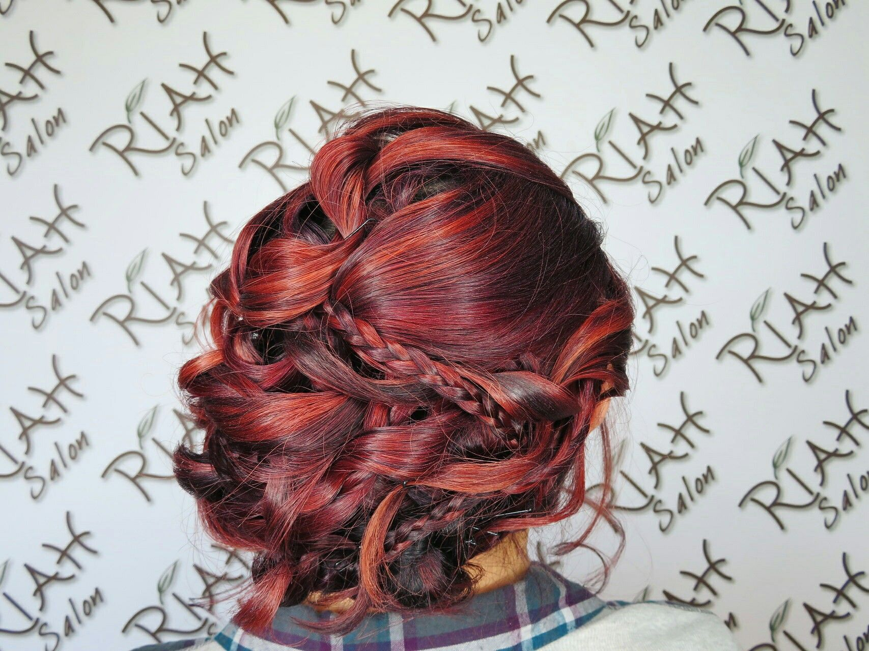 Riahsalon formal formalstyle dancintime braid updo curls