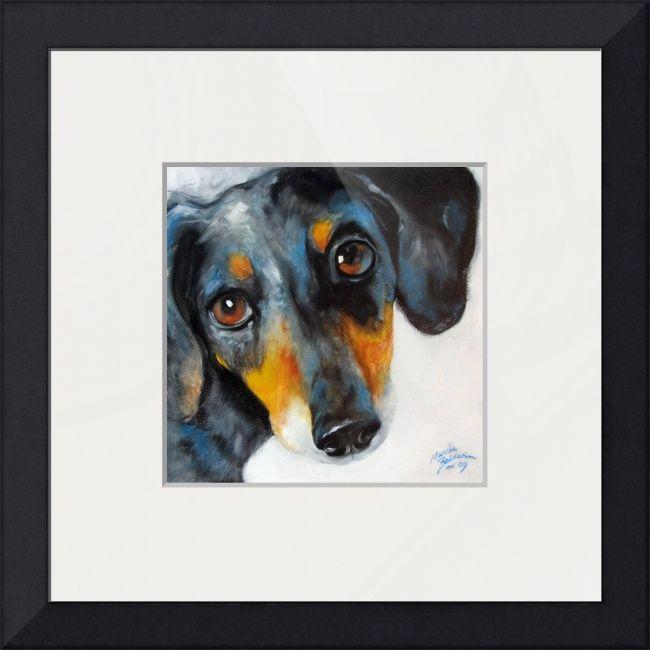 Doxie Dappled By Marcia Baldwin Pet Art Mini Dachshund